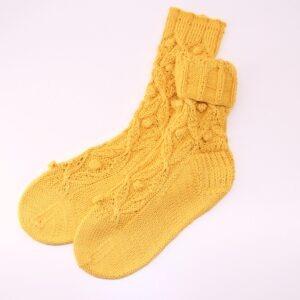 Lehké dámské pletené ponožky s módním motivem