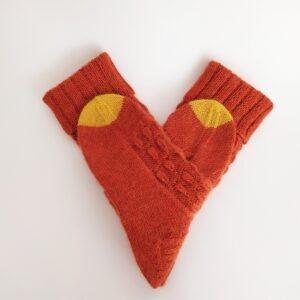 Pletené vlněné ponožky. Zimní ponožky dámské.