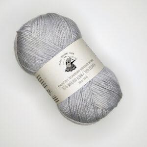 Natural Yarn příze Světle šedá, merino vlna, viskóza, 100 gr